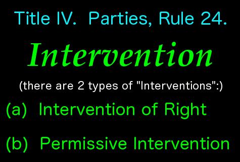 2 types of intervention