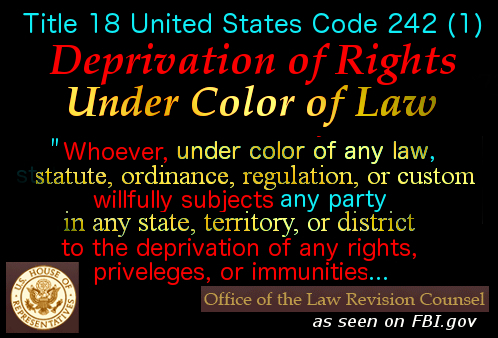 Deprivation of Rights Under Color of Law 1 good
