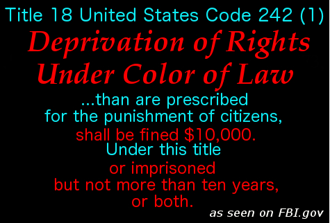 Deprivation of Rights Under Color of Law 3