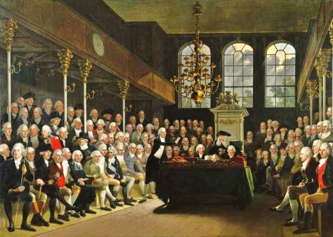 1 Karl Anton Hickel, William Pitt addressing the House of Commons, 1793
