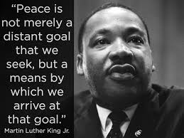 Martin Luther King travel by peace