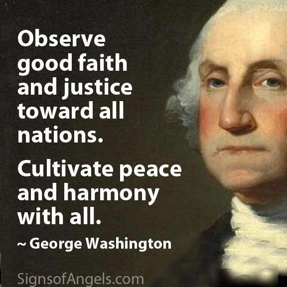 George Washington all nations quote